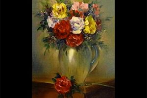 Floral in a Clear Vase
