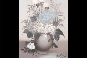 Hydrangea in Monochrome