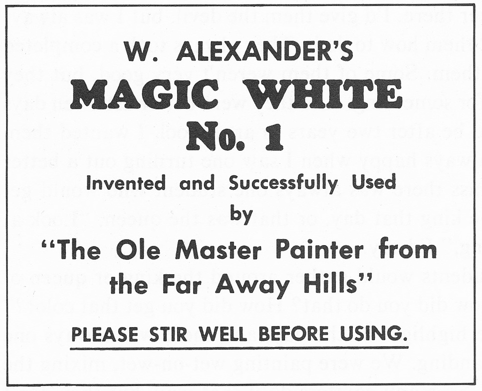 Label for Bill's Magic White