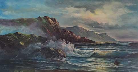"""Mountain Seascape"""