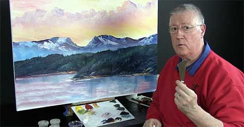 Bill made a great palette knife!